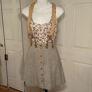 Vintage rampage suspender skirt